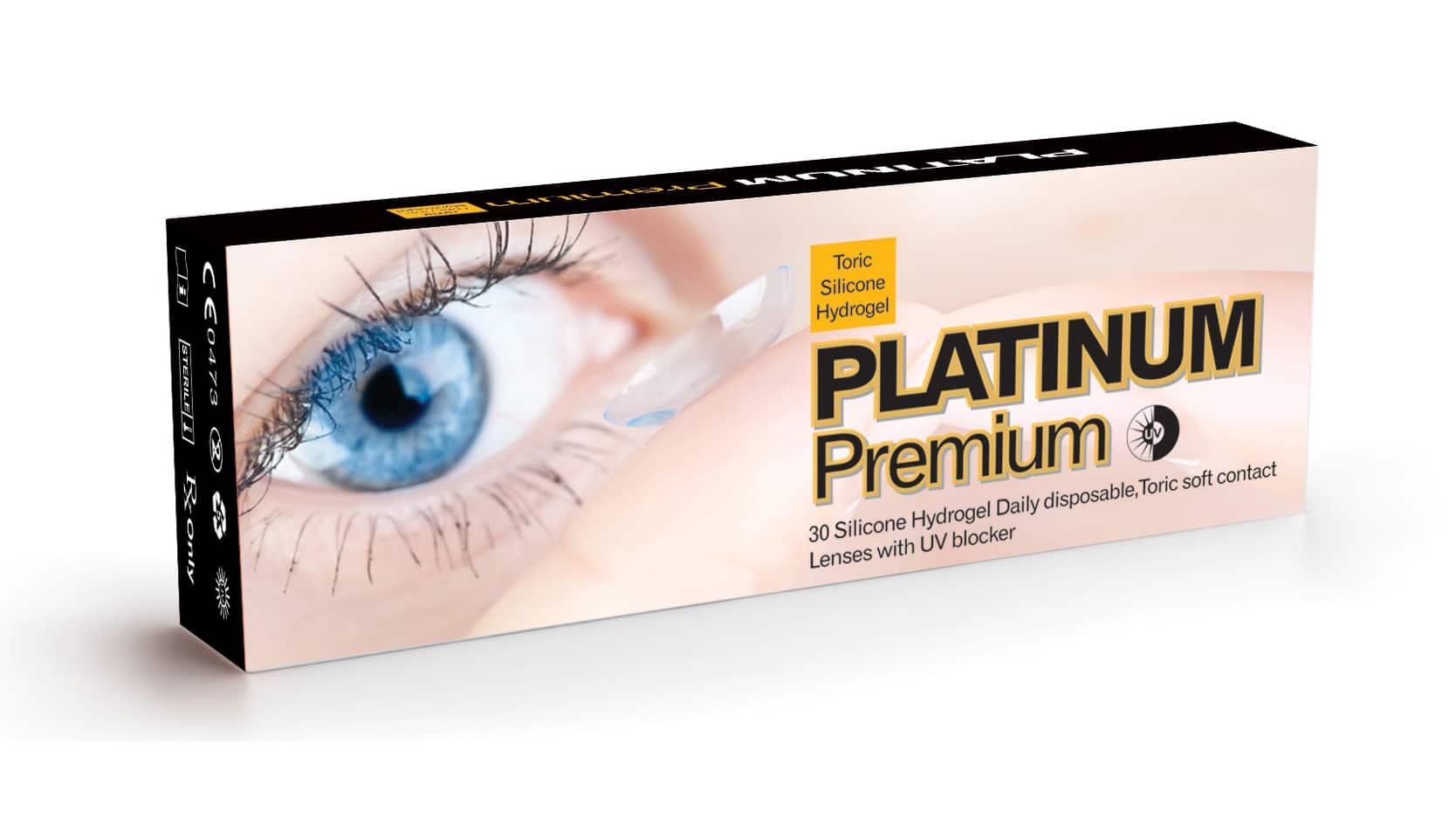 עדשות מגע יומיות, צילנדר Platinum Premium Silicone Hydrogel Toric